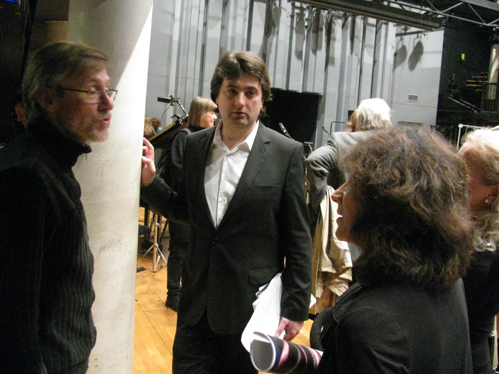 Marilyn Shrude with Claude Delangle and Bruno Montovani at the Paris Conservatory, April 2012