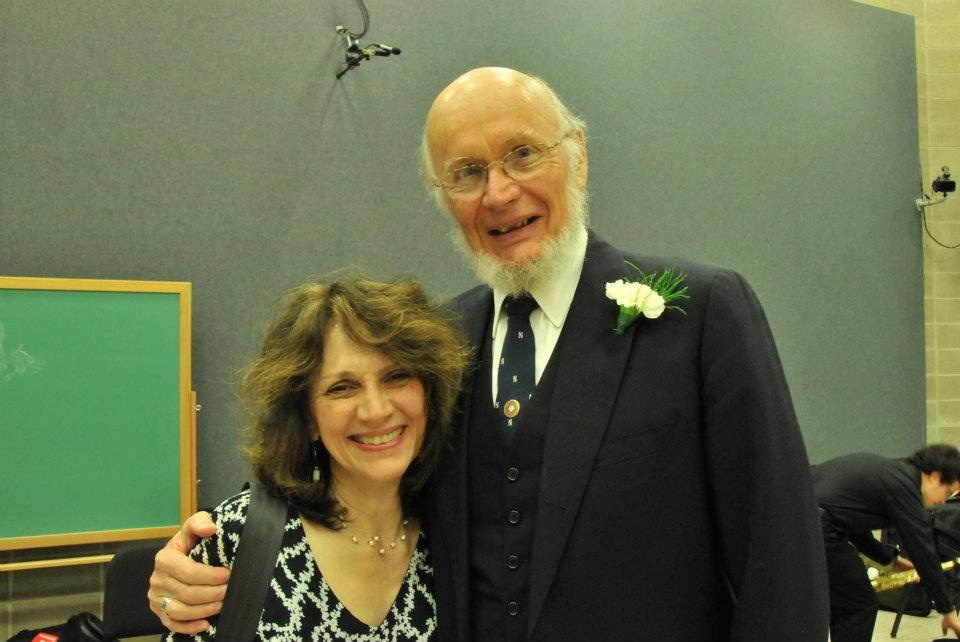 Marilyn Shrude with Fred Hemke at premiere of Avanti!, 2012