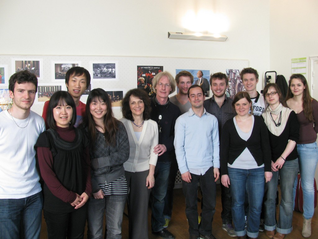 Paris Conservatory Saxophone Class, April 2012
