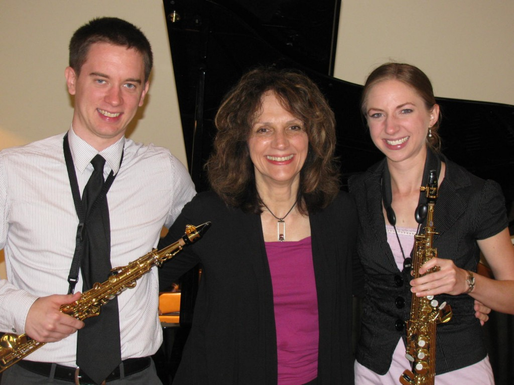 Premiere of Litanies (sax version) with John Cummins and Elissa Kana