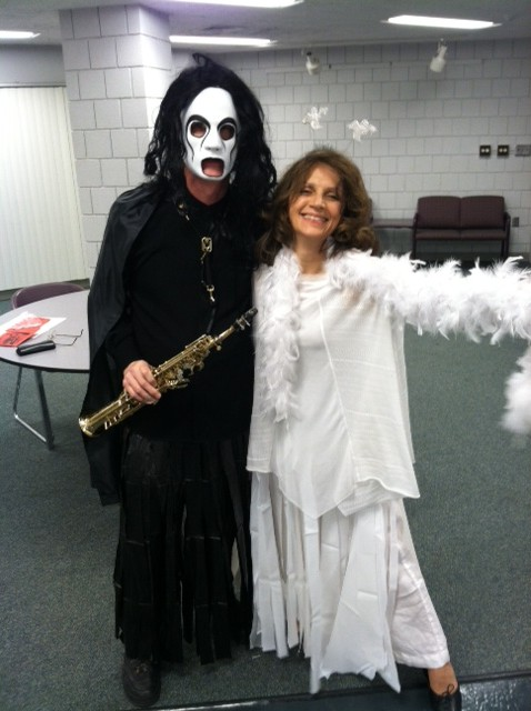 Sampen and Shrude as Graceful Ghosts, Halloween 2012